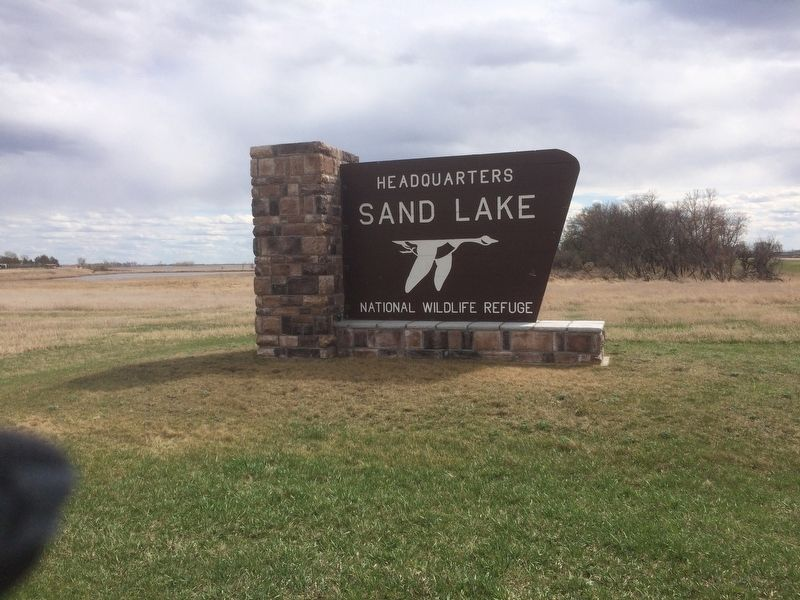 Sand Lake National Wildlife Refuge Sign image. Click for full size.