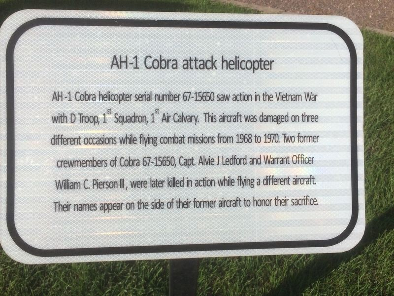 AH-1 Cobra attack Helicopter Marker image. Click for full size.
