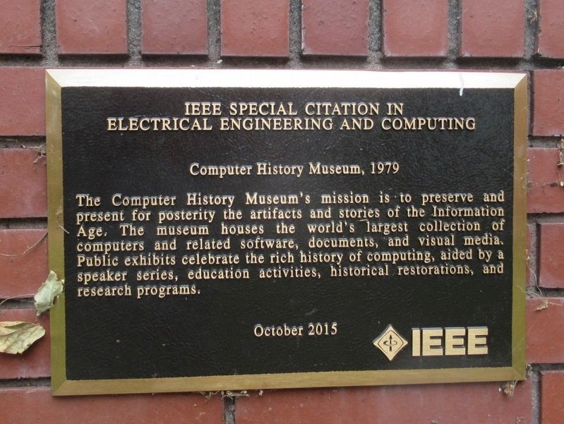 Computer History Museum Marker image. Click for full size.