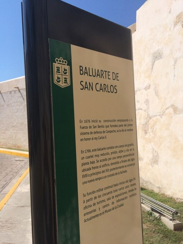 An additional nearby Bastion of San Carlos Marker, in Spanish. image. Click for full size.