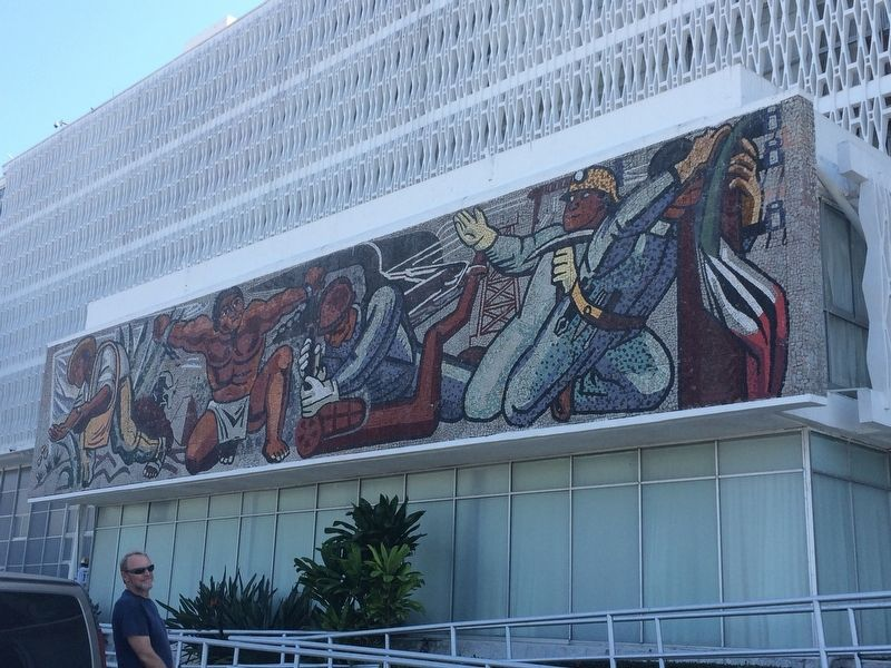 """The Mexican Revolution"" mural mentioned in the marker text. image. Click for full size."