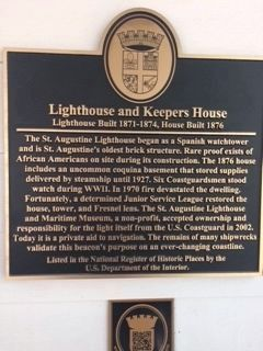 Lighthouse and Keepers House Marker image. Click for full size.