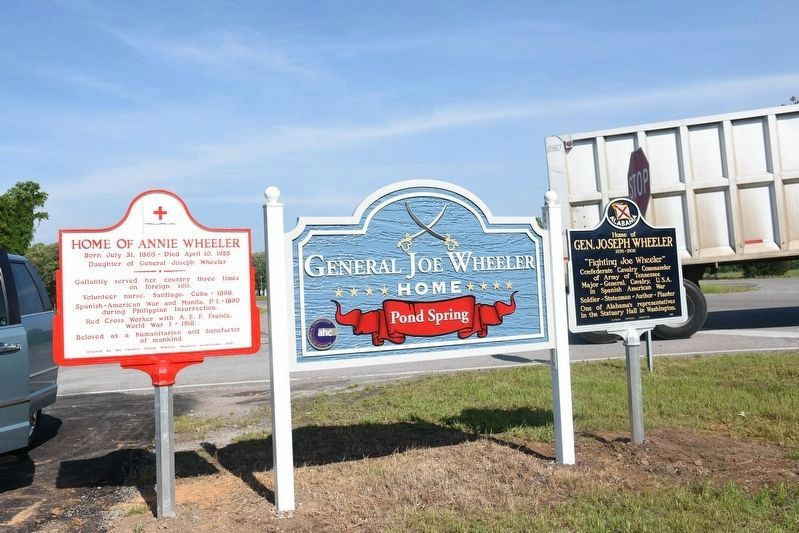 New Historic Markers for Home of Joe & Annie Wheeler image. Click for full size.
