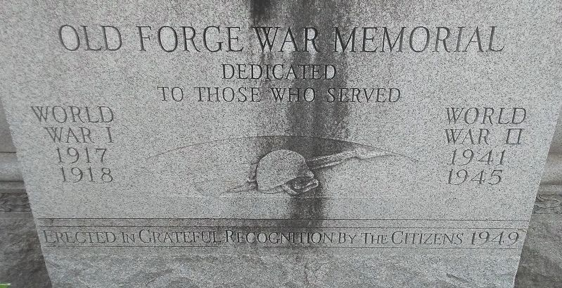 Old Forge War Memorial Dedication image. Click for full size.