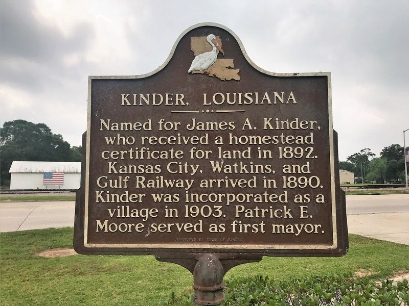 Kinder, Louisiana Marker image. Click for full size.