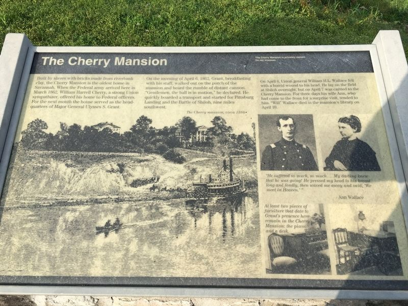 The Cherry Mansion Marker image. Click for full size.