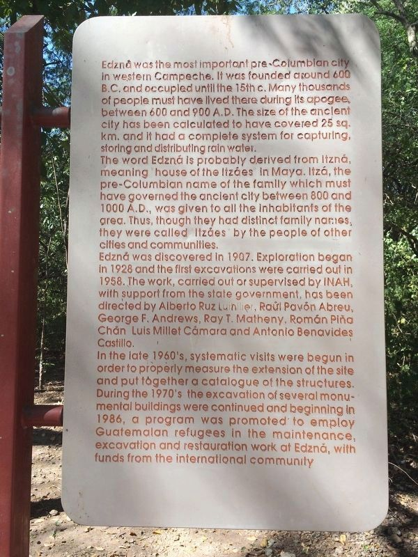 An additional marker near The Ambassadors' Platform Marker, in English. image. Click for full size.