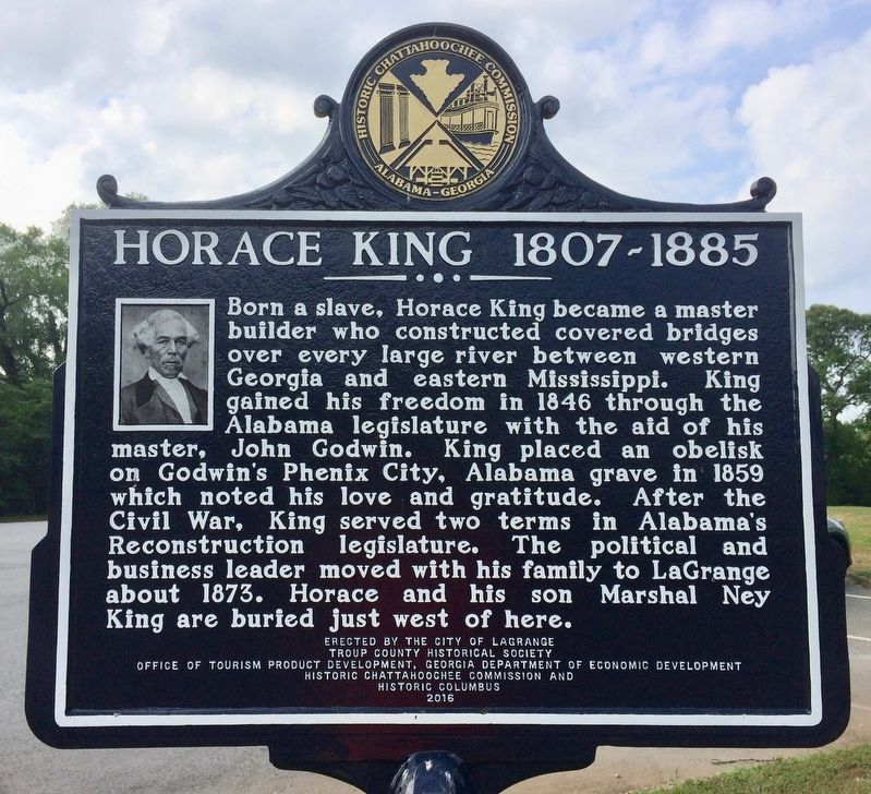 Horace King   1807-1885 Marker image. Click for full size.