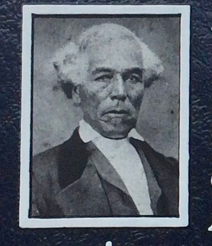 Horace King in his later years (photo from marker). image. Click for full size.