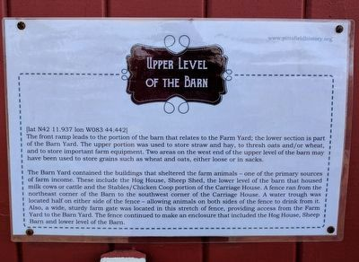 Upper Level of the Barn Marker image. Click for full size.