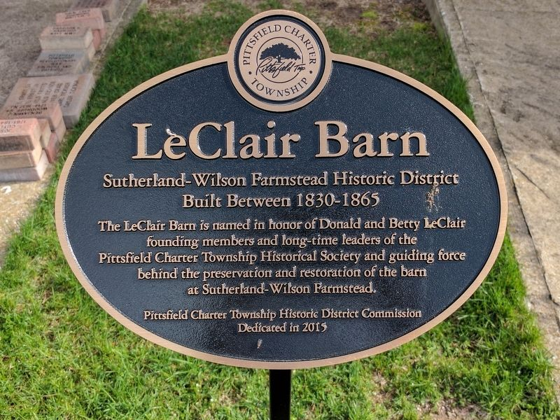 LeClair Barn Memorial Marker image. Click for full size.