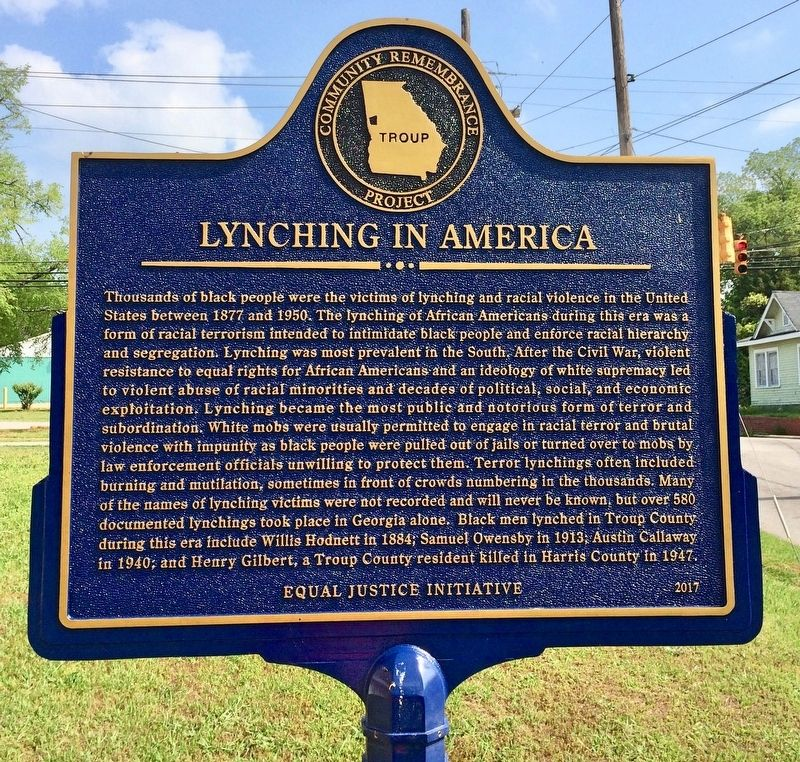 Lynching in America Marker image. Click for full size.