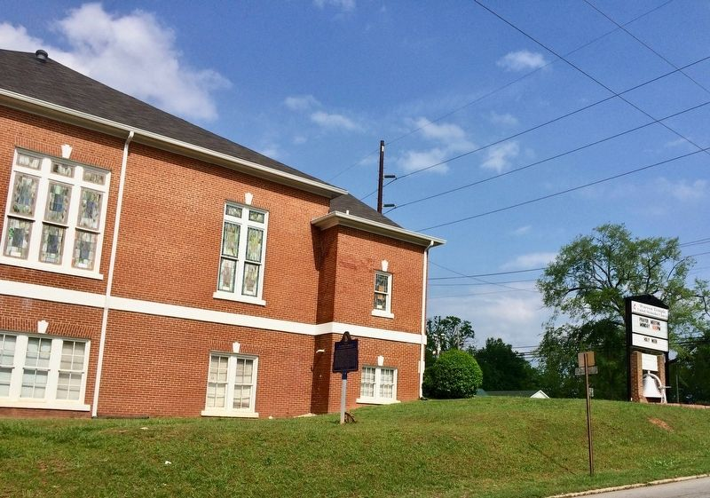 East side of Warren Temple United Methodist Church on Union Street. image. Click for full size.