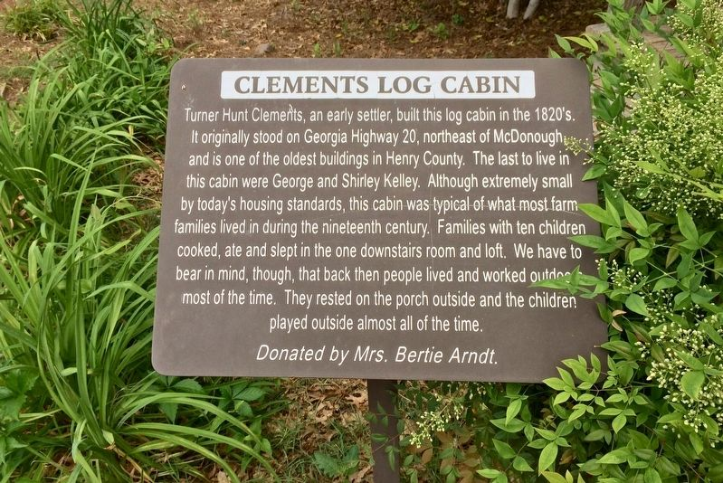 Clements Log Cabin Marker image. Click for full size.
