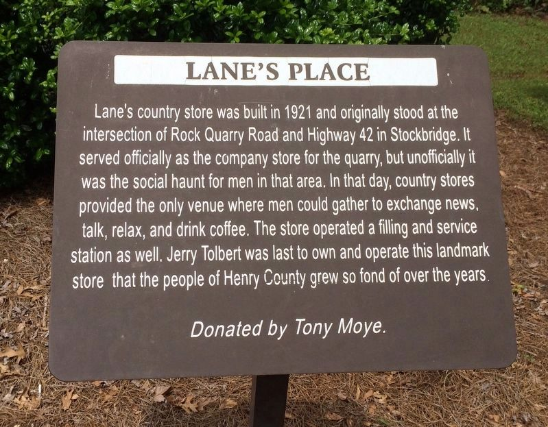 Lane's Place Marker image. Click for full size.