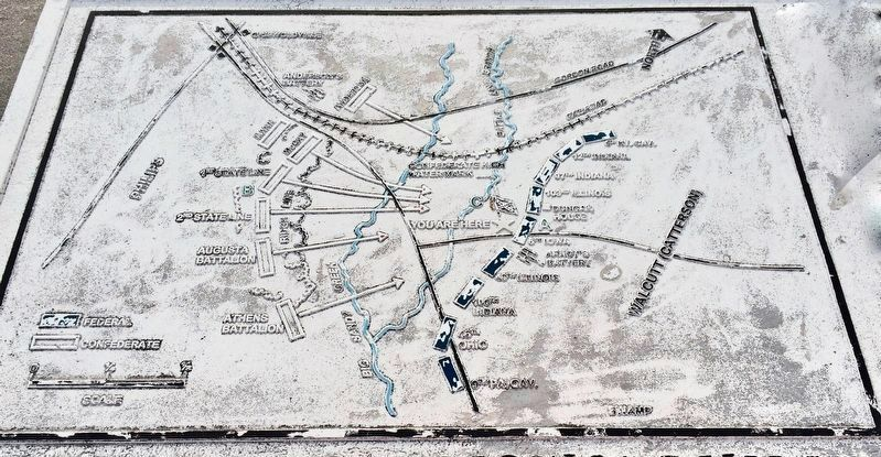 Map of the Battle of Griswoldville (from marker). image. Click for full size.