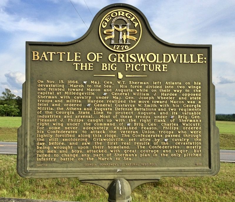 Another nearby marker about the Battle of Griswoldville. image. Click for full size.