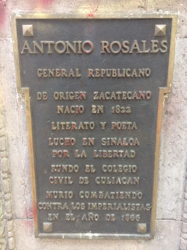 General Antonio Rosales Marker image. Click for full size.
