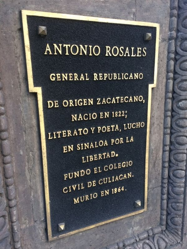 General Antonio Rosales front marker image. Click for full size.
