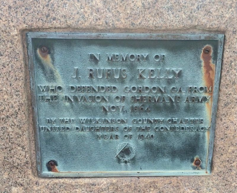 In Memory of J. Rufus Kelly plaque. image. Click for full size.