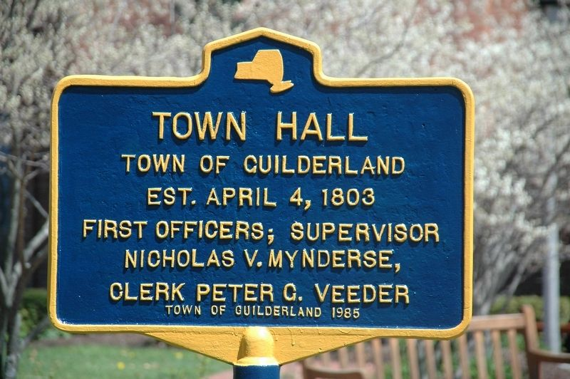 Guilderland Town Hall Marker image. Click for full size.