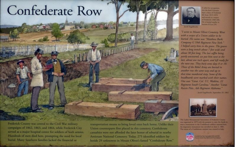 Confederate Row Marker image. Click for full size.