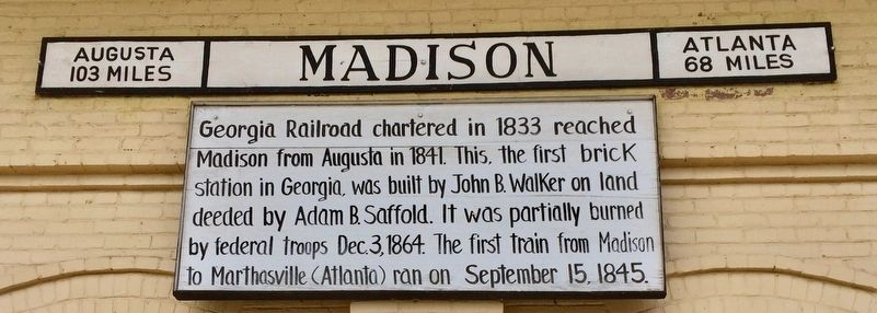 Madison Train Station Marker image. Click for full size.