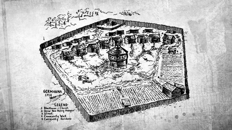 Fort Germanna (conjectural) image. Click for full size.