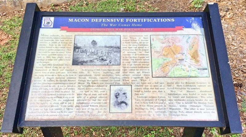Macon Defensive Fortifications Marker image. Click for full size.