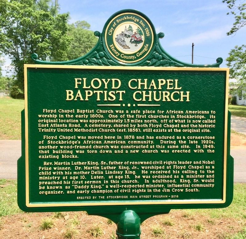 Floyd Chapel Baptist Church Marker image. Click for full size.