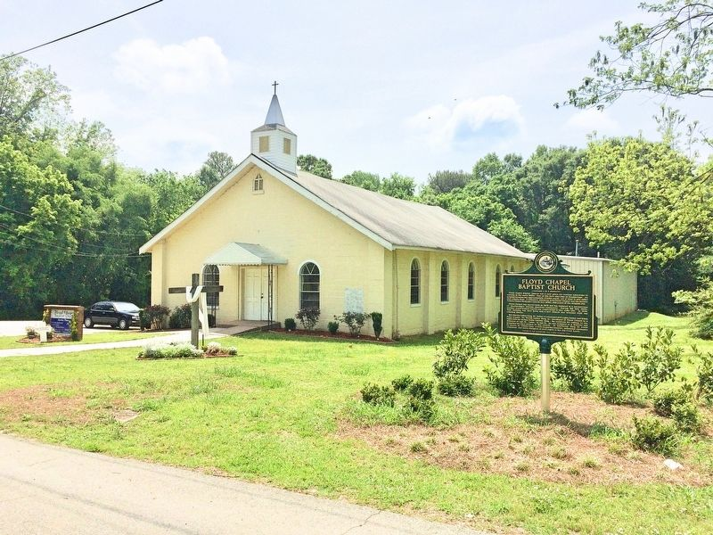Floyd Chapel Baptist Church & marker. image. Click for full size.