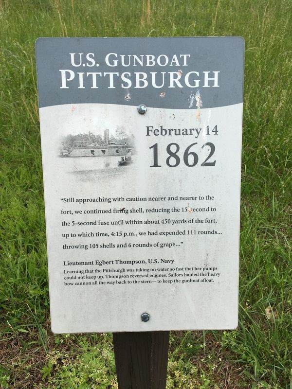 U.S. Gunboat Pittsburgh Marker image. Click for full size.