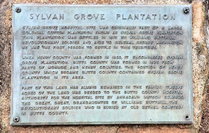 Sylvan Grove Plantation Marker image. Click for full size.