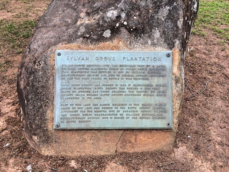 Sylvan Grove Plantation stone and marker. image. Click for full size.