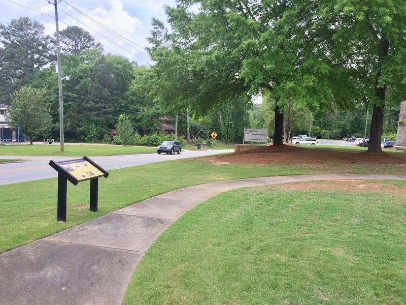 View of marker looking north on McDonough Road. image. Click for full size.