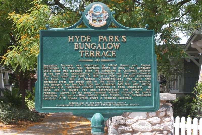 Hyde Park's Bungalow Terrace Marker image. Click for full size.