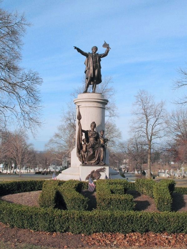 Francis Scott Key Monument and Grave image. Click for full size.
