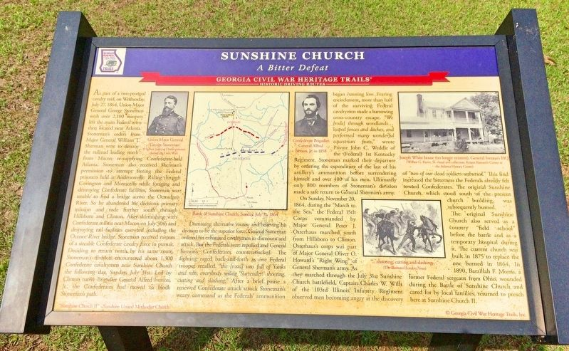 Sunshine Church Marker image. Click for full size.