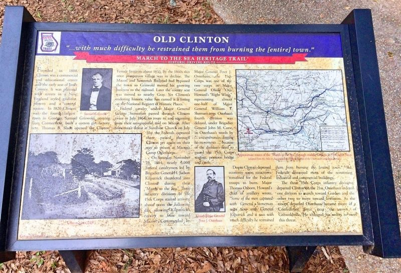 Old Clinton Marker image. Click for full size.