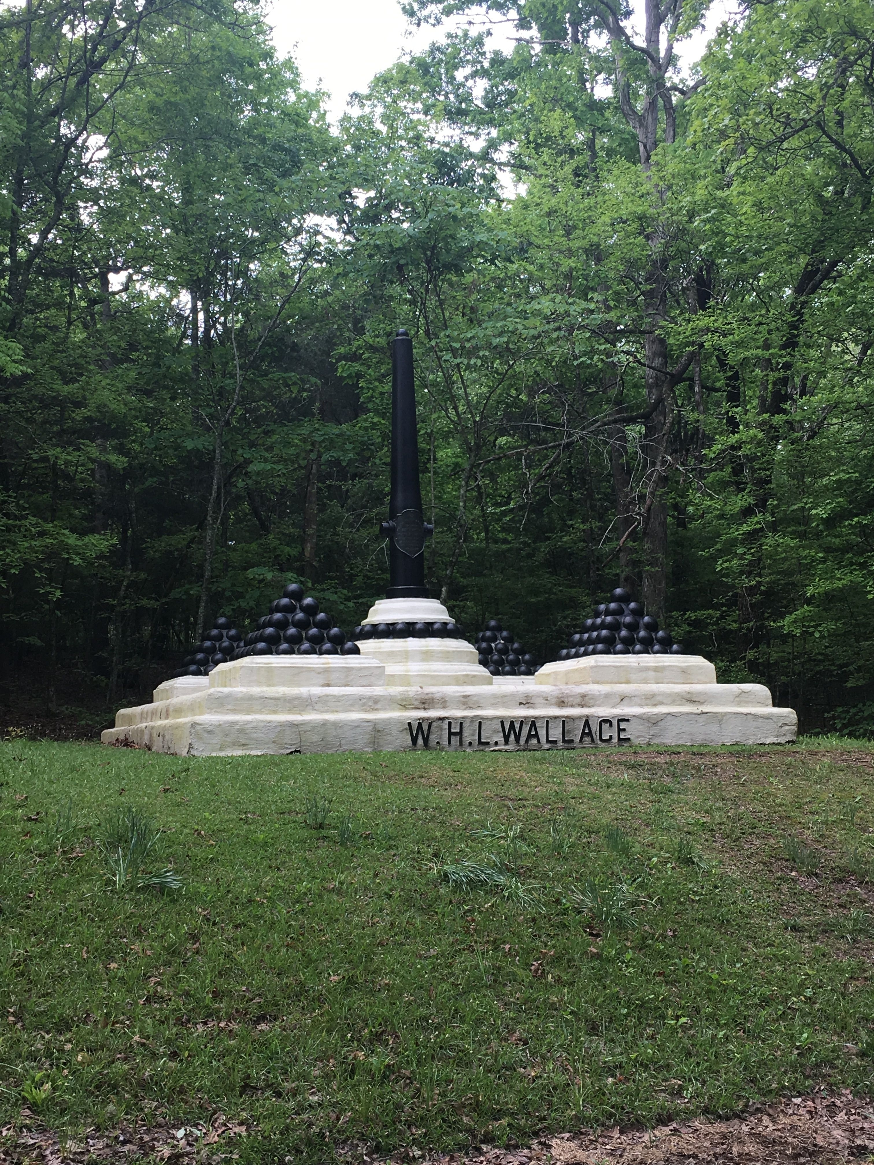 The W.H.L. Wallace Mortuary Monument at Shiloh