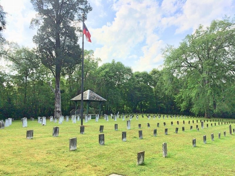 Nearby Confederate Cemetery with about 300 graves. image. Click for full size.