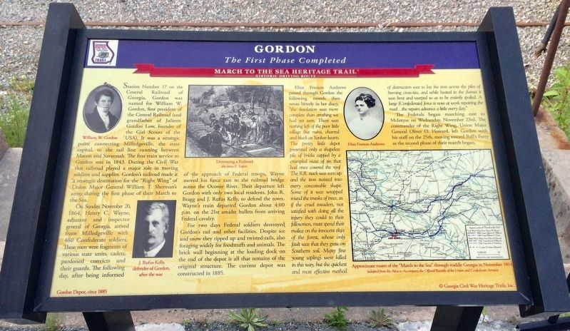 Gordon - Sherman's March to the Sea Marker image. Click for full size.