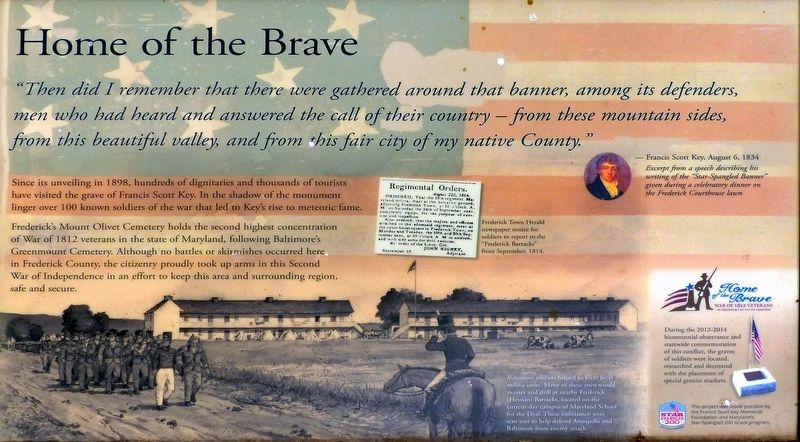 Home of the Brave Marker image. Click for full size.