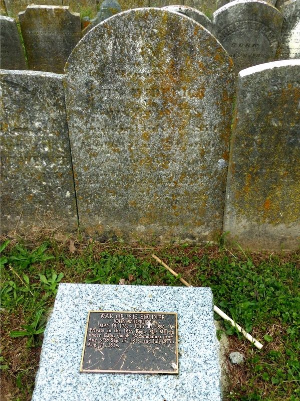 John Widerick<br>War of 1812 Soldier<br>May 18, 1781 - July 20 1850 image. Click for full size.