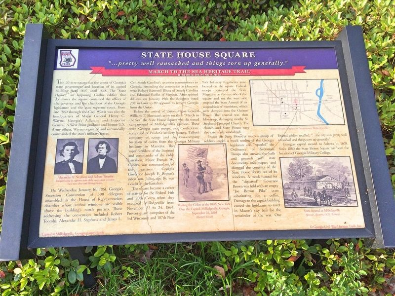 State House Square Marker image. Click for full size.
