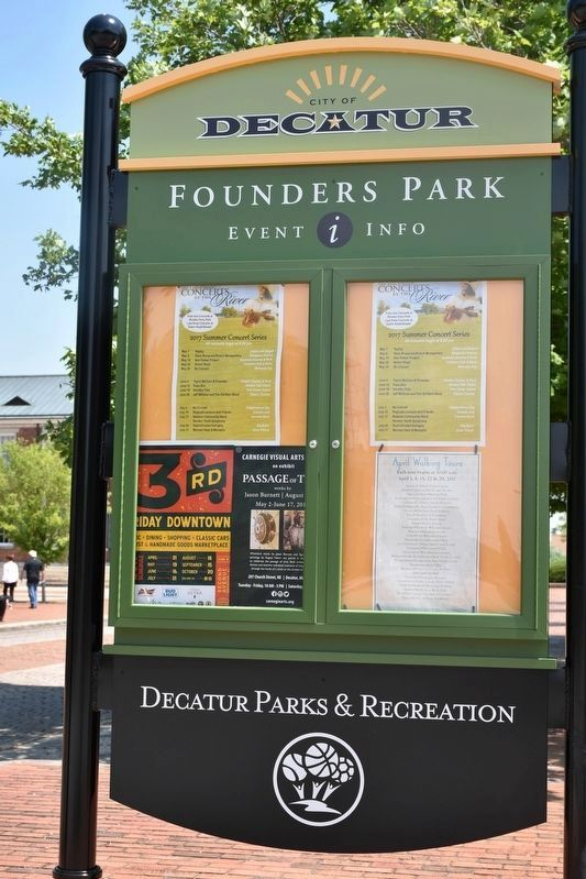 Founders Park Event Info image. Click for full size.
