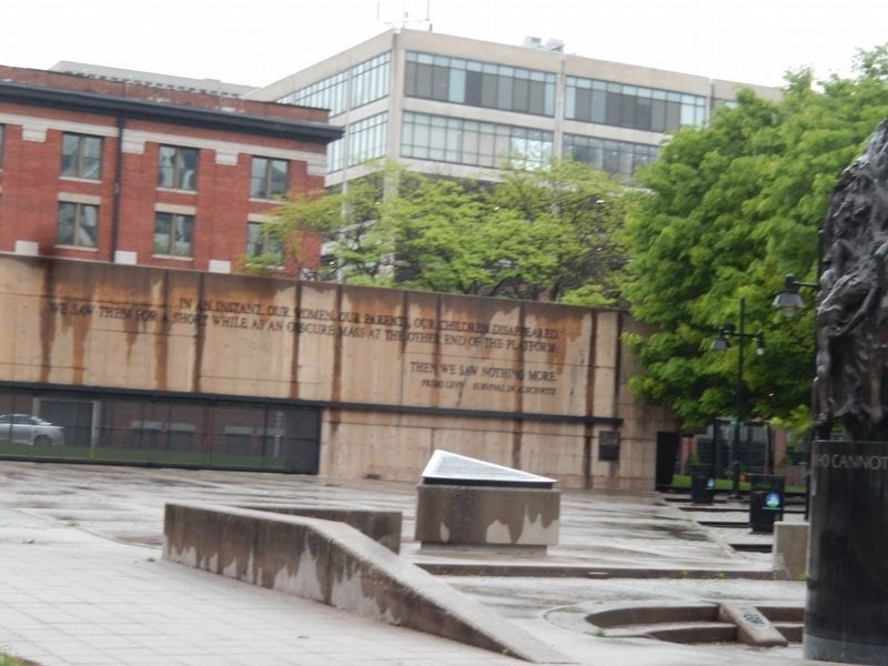 Holocaust Memorial-Right side of the wall image. Click for full size.