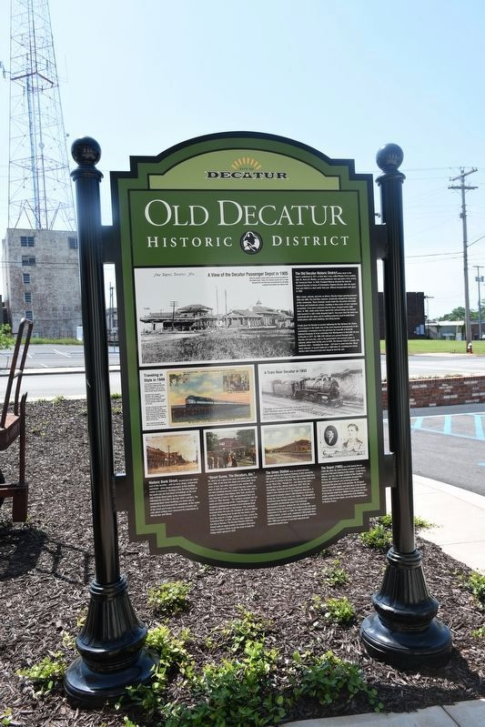 Old Decatur Historic District Marker image. Click for full size.