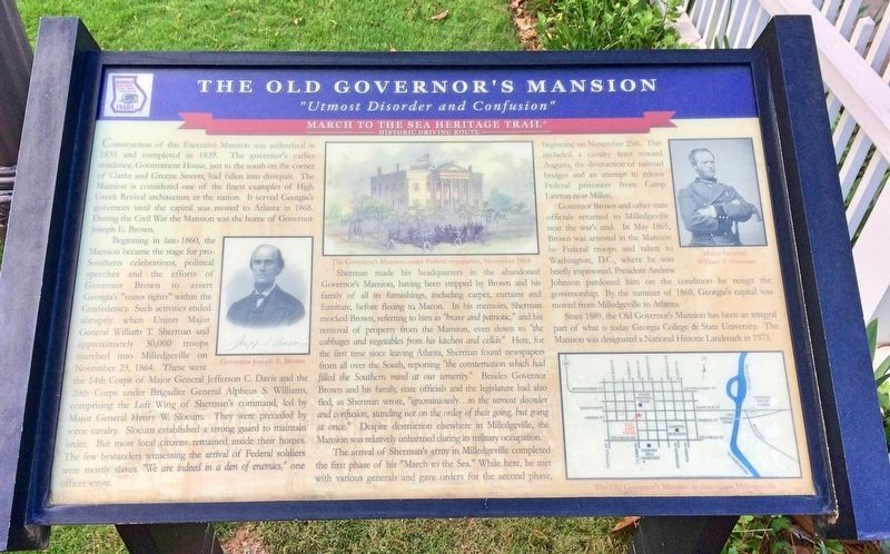 The Old Governor's Mansion Marker image. Click for full size.