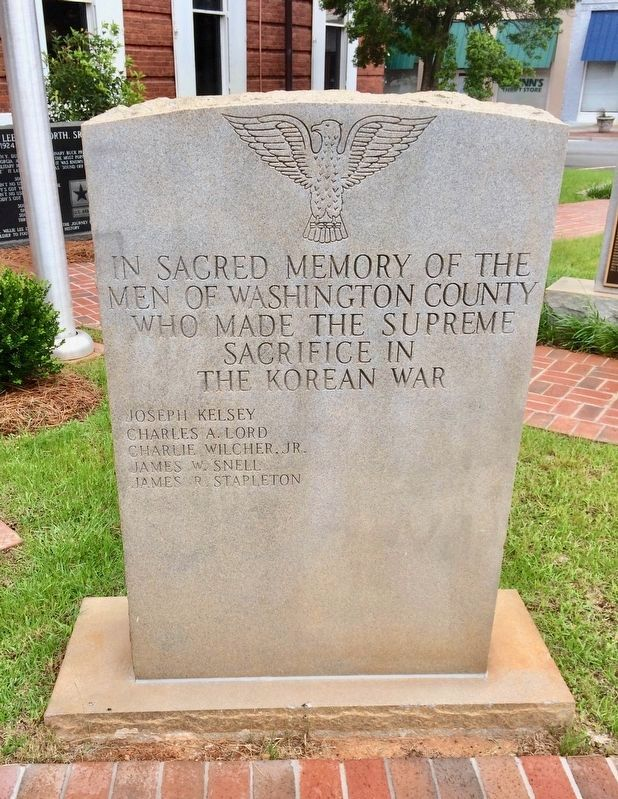 Washington County Korean Monument image. Click for full size.